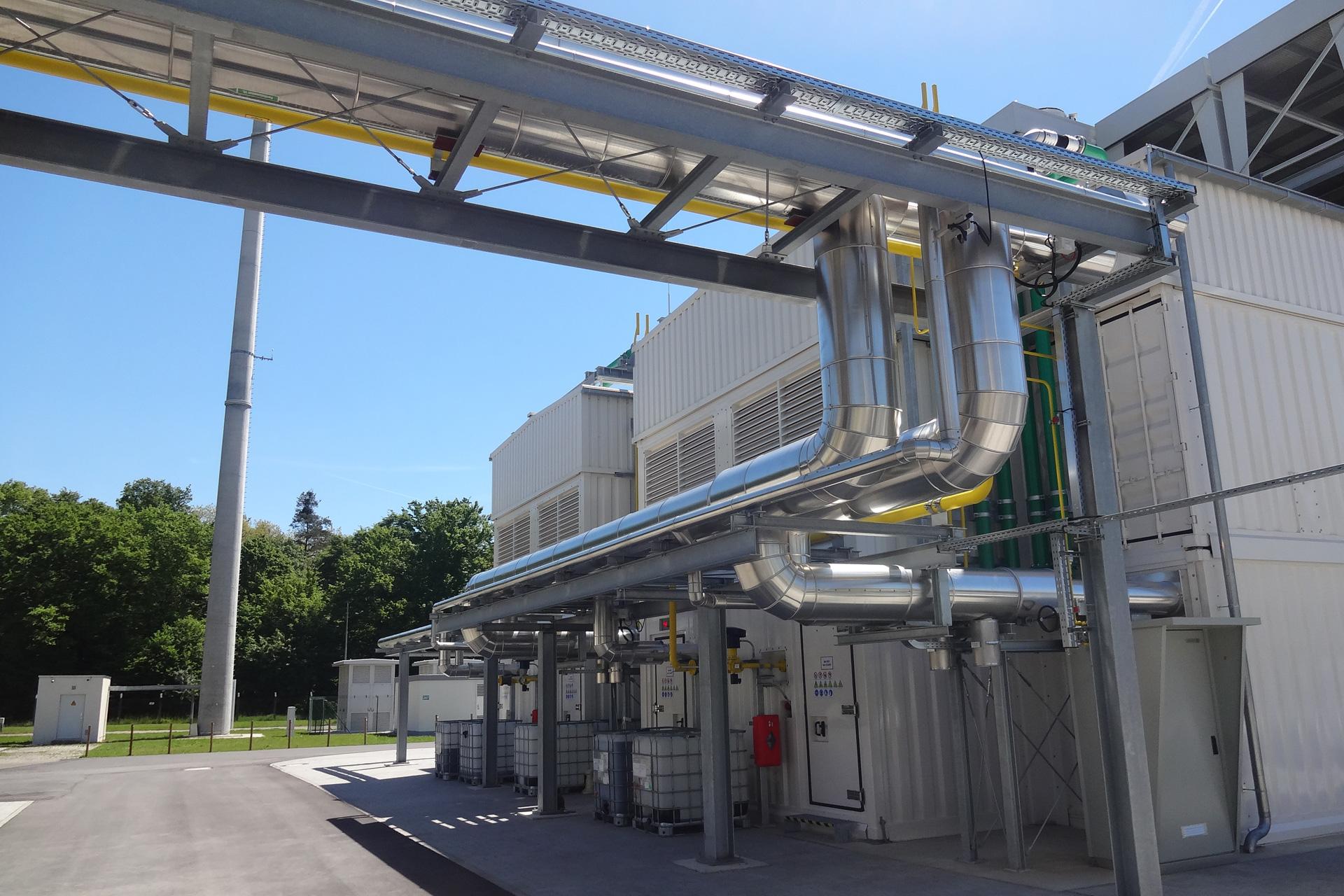 Referenzen, Blockheizkraftwerke, Einbindung Prüfstände 2 x 4,5 MW