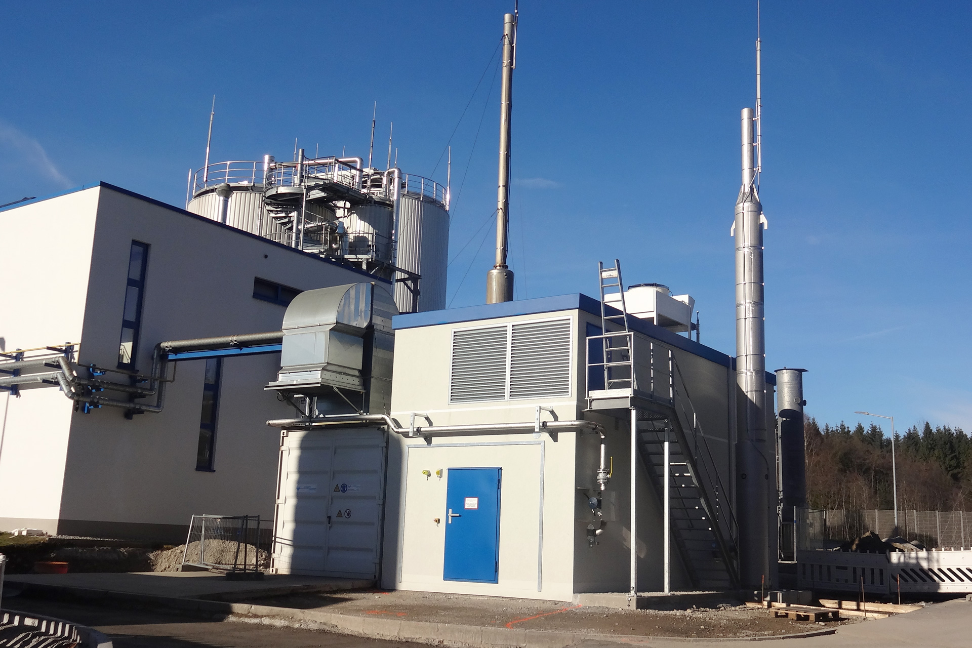 Referenzen, Blockheizkraftwerke, Klärgas - BHKW 0,55 MW