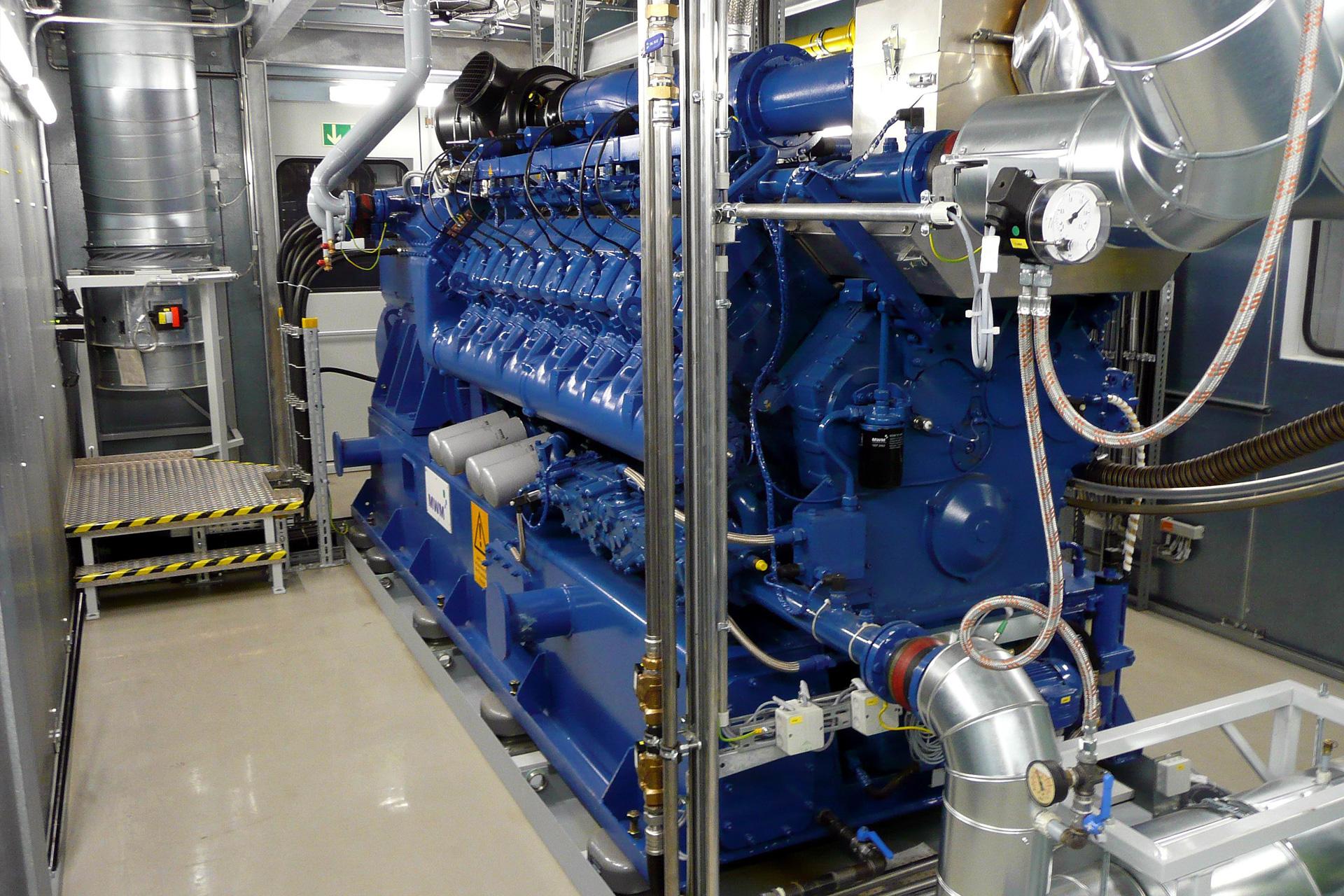 Referenzen, Blockheizkraftwerke, BHKW, 1,5 MW mit WP