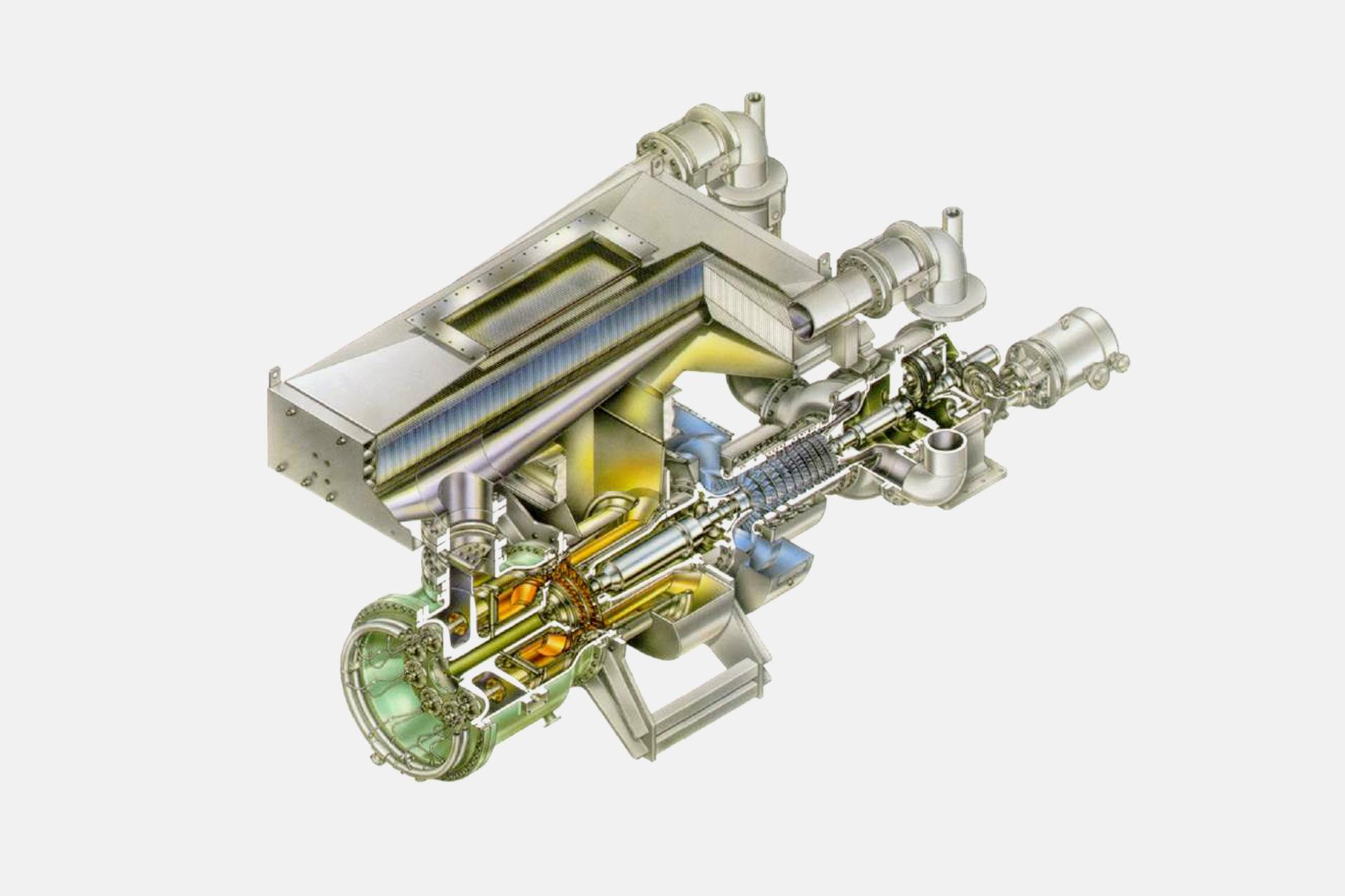 Referenzen, Gas-und Dampfturbinen, Gasturbinrnanlage