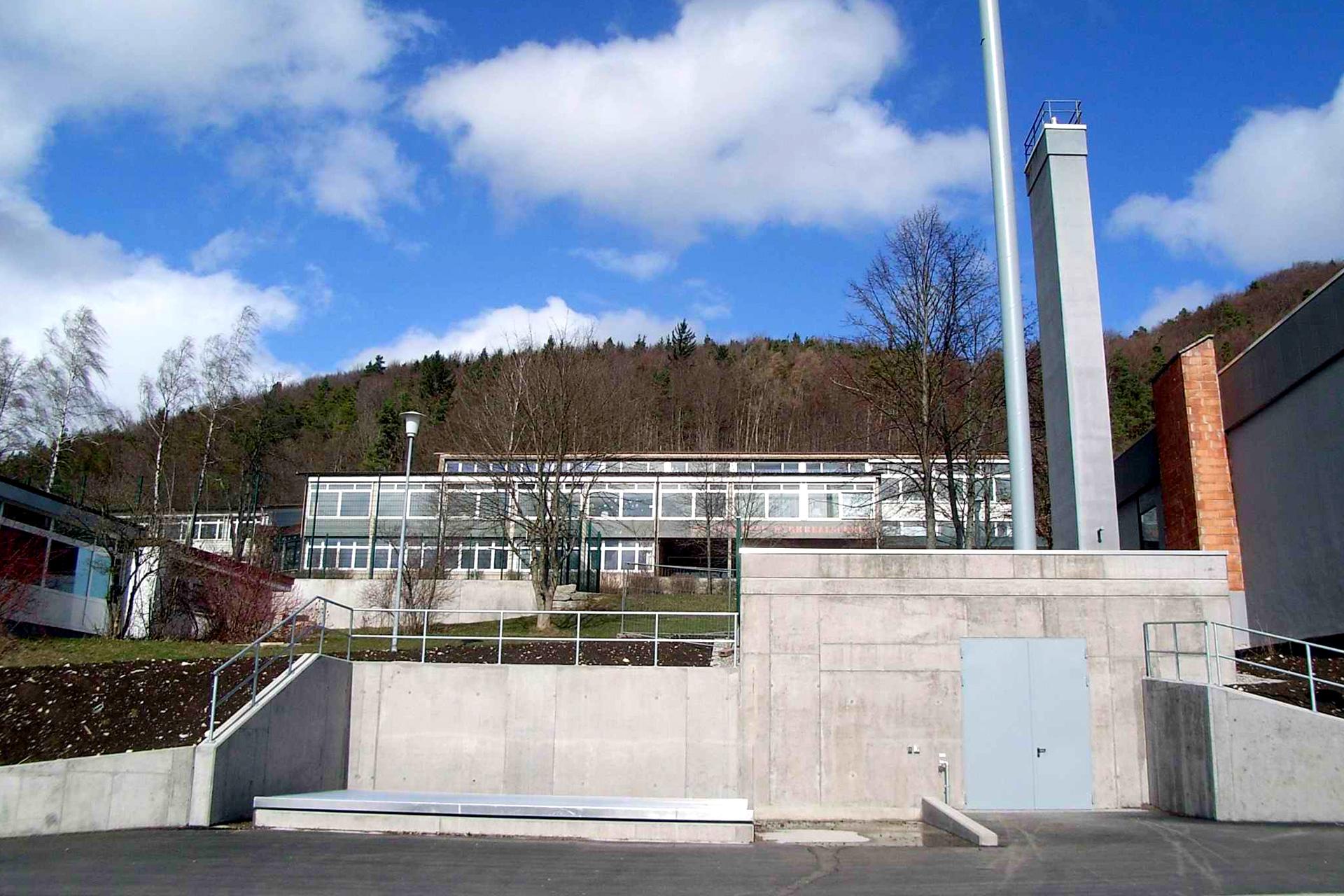Referenzen, erneuerbare Energien, Holzheizung, Schulzentrum