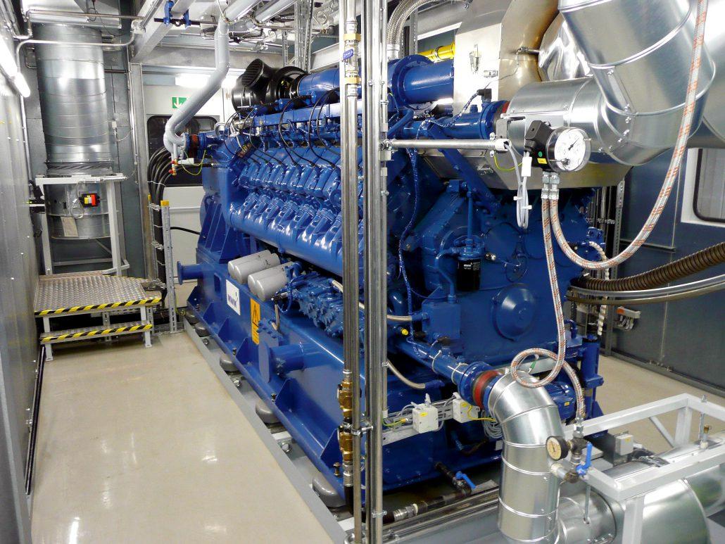 Blockheizkraftwerk BHKW, Erdgas, Biogas, Klärgas